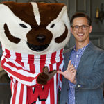 Joshua Calhoun and Bucky Badger