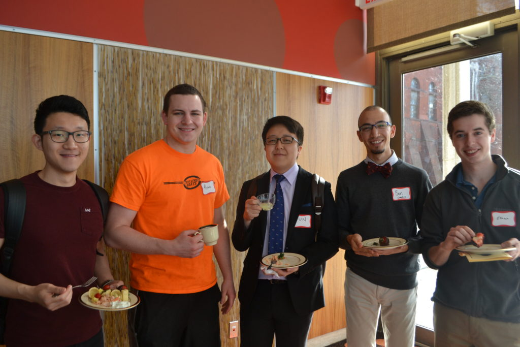 Pictured: Recipients Junyong Song, Ben Elmakias, Ethan Kay, and friends