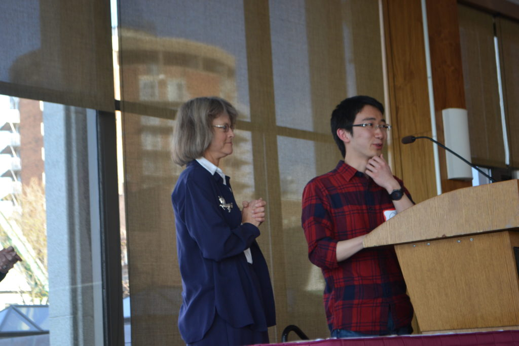 Qihong Lu, pictured with Lucy Moore