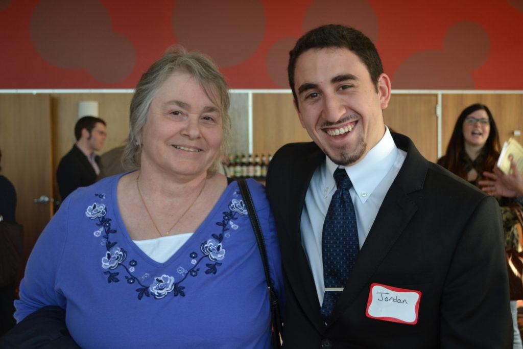 Jordan Filerman (pictured with Dorothy's daughter, Nancy Urish)
